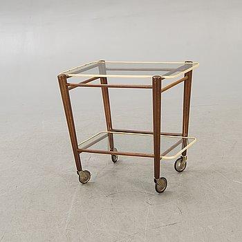 Cees Braakman, A mid 1900s teak serving trolley.