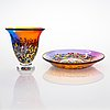 Ardy strüwer, vase and bowl, signed, johansfors.