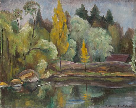 Kalervo kallio, öljy kankaalle, signeerattu ja päivätty 1946.