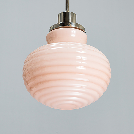 Paavo tynell, a 1930's '554' pendant light for taito finland.