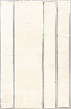 "A carpet/textile, ""Häggå 981"", machin woven, Gunilla Lagerhem, Ullberg Kasthall, ca 290 x 30 and 70 cm."