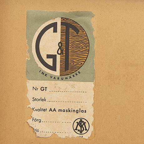Spegel, glas & trä (g&t), 1950-tal.