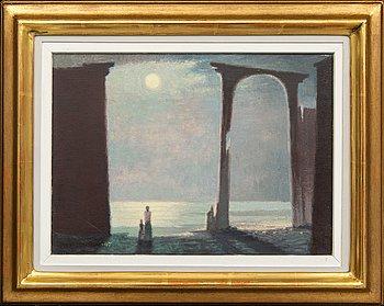 Sven Jonson, oil on canvas, signed.
