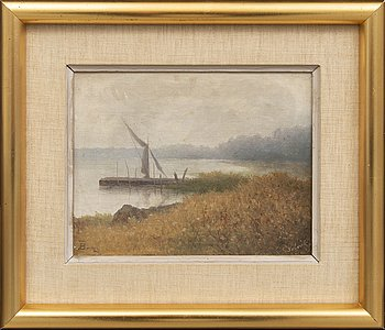 Theodor Billing, oil on canvas, signed.
