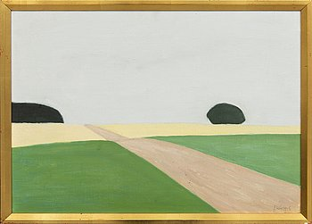 Axel Kargel, oil on canvas, signed 1968.