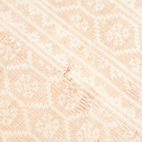 A carpet, flat weave. cotton, 392 x 256 cm.