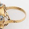 Sputnik aquamarine ring.