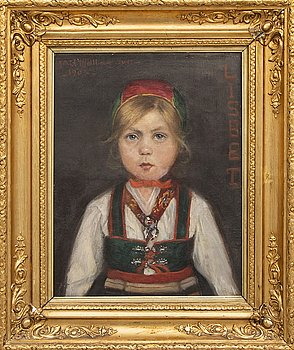 An oil on canvas by Astrid Kjellberg Juel, signed and dated 1905.