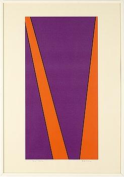 Olle Baertling, silkscreen in colours, 1972-74, signed 39/100.