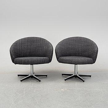 Yngve Ekström,  a pair of 'Rondino' armchairs for Swedese.