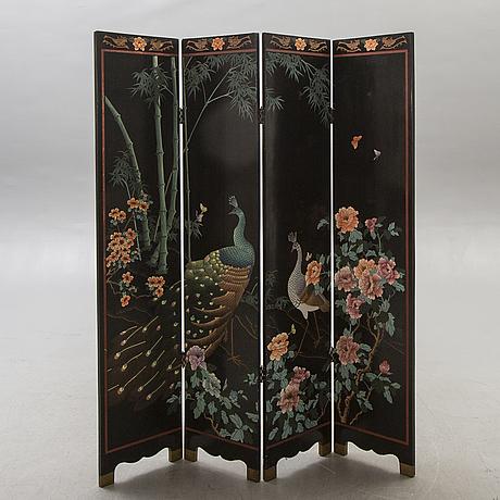 A japanese folding screen 20th century.