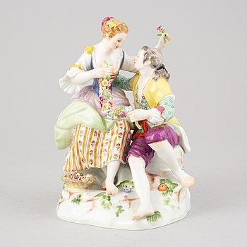 A porcelain figurine, Meissen, 20th century.
