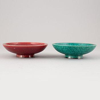 "Wilhelm Kåge, two ""Argenta"" bowls, Gustavsberg."