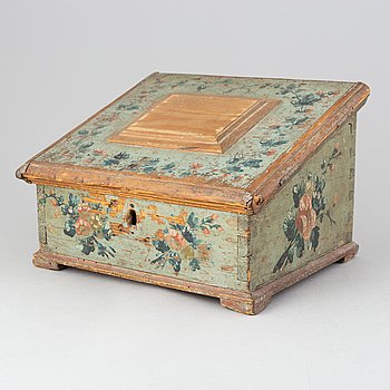 A swedish wooden box, late 18th century/early 19th century.
