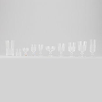 "Vicke Lindstrand, glasservis, 108 delar, ""Diamant"", Kosta."