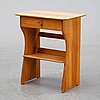 Carl malmsten, a pinewood 'guldheden' bedside table, second half of the 20th century.
