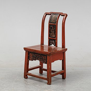A chinese chair late 19th century.