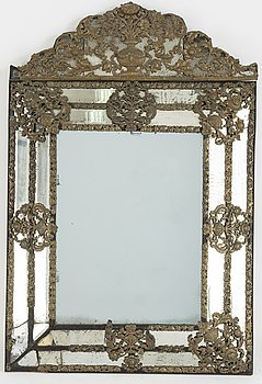 A Baroque style mirror, second half of the 20th Century.