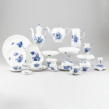 An 83-piece 'Blå Blomst' porcelain service, Royal Copenhagen, Denmark.