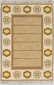 Ingegerd Silow, a carpet, flat weave, ca 203 x 136,5-137,5 cm, signed IS.