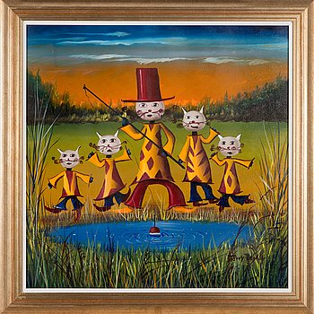 Terry Laakso, oil on canvas, signed.