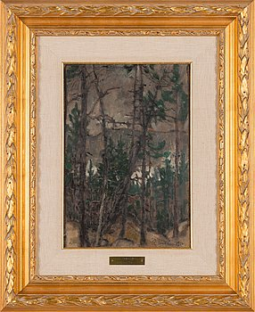 Ragnar Ungern, oil on cardboard, signed and dated 1916.