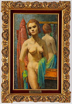 Philippe de Rougemont, oil on canvas, signed and dated -56.