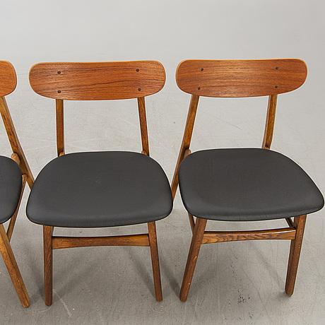 Chairs, 6 pcs, farstrup, 1960s, denmark.