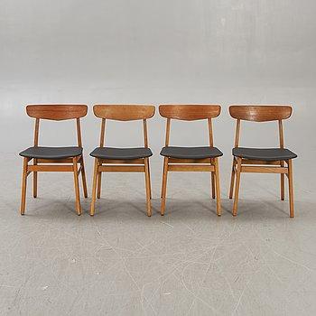 Chairs, 4 pcs, Farstrup, 1960s, Denmark.