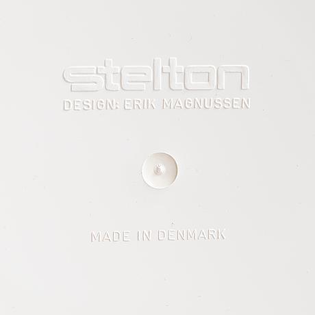 """Stelton, 3 delar, arne jacobsen, """"cylinda-line"""" samt erik magnussen, isbägare, danmark, 1960-70-tal."""