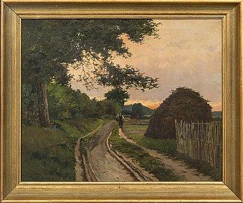 Jules G. Bahieu, olja på duk, signerad, daterad 1894.