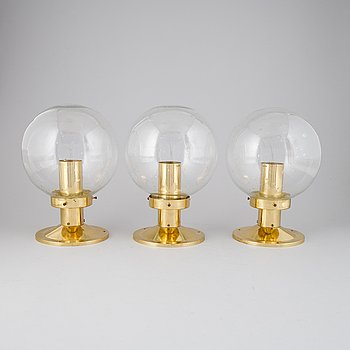 THree 'Globus' ceiling lamps by Hans-Agne Jakobsson, Markaryd.