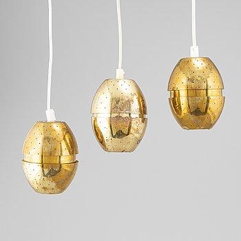 Three brass window lamps by Hans-Agne Jakobsson, Markaryd, 1960's.