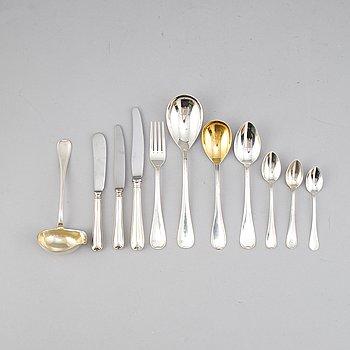 A Swedish silver cutlery, model 'Svensk rund', GAB (74 pieces).