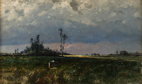 Johan ericson, oil on panel, signed and dated 1881.