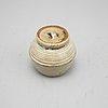 Tatsuzō shimaoka, a stoneware urn with cover, japan.