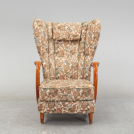 A sofa and easy chair, mid 20th century.
