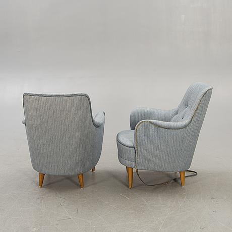 Carl malmsten, a pair of hemmakväll armchairs later part of the 20th century.