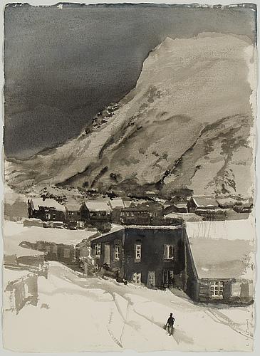 Lars lerin, akvarell, signerad l lerin och daterad -79.