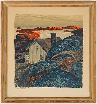 Roland Svensson, färglitografi, signerad och numrerad 192/360.
