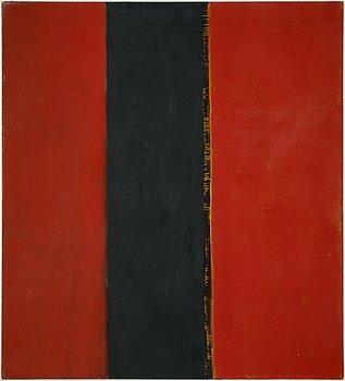 Yuko Shiraishi, oil/mixed media on canvas, signed and dated 1989 verso.