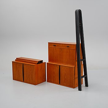 A teak shelving system from Bräntorps, 1950's/60's.