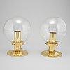 Two 'globus', model t472, ceiling lamps by hans-agne jakobsson, hans-agne jakobsson ab, markaryd.