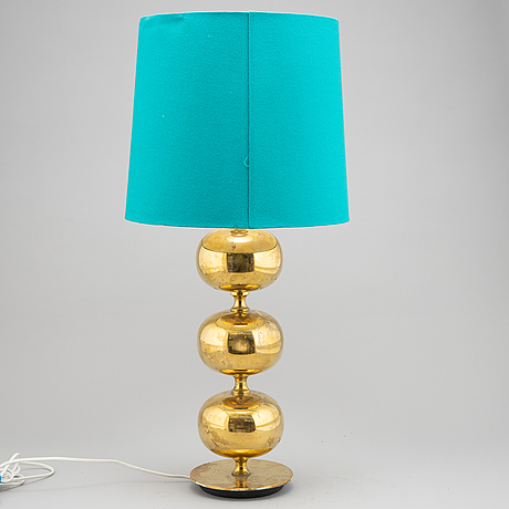 A brass table light from ab stilarmatur, tranås, 1970's.