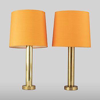 A pair of brass table lights from Kosta Elarmatur, 1960's.