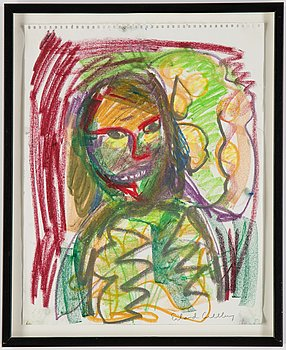 Erland Cullberg, pastel, signed Erland Cullberg in pencil.