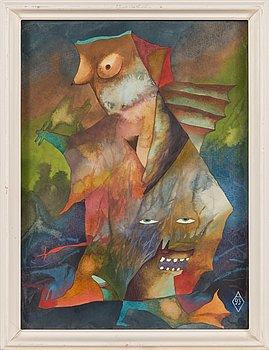 Aarne Vasar, akvarelli, signeerattu ja päivätty -93.