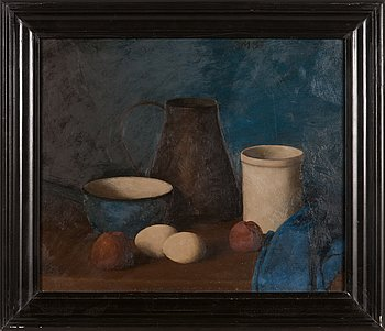 Olav Maran, oil on board, signed and dated -87.