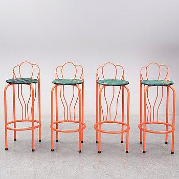 Kristoffer Sundin, Fredrik Paulsen och Simon Klenell, a set of four bar stools.