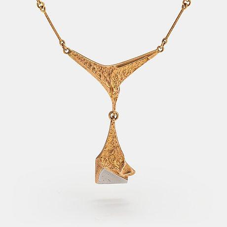 "Björn weckström, ""stockmann's jubilee jewellery"", a 14k gold and platinum necklace. lapponia 1987."
